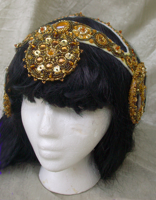"""Gatsby"" Headdress - In Progress - Front"
