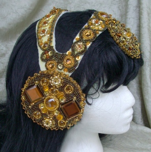 """Gatsby"" Headdress - In Progress - Side"