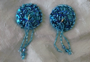 Turquoise Pasties with Beaded Tassels
